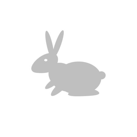 cutouts: Silhouette of a rabbit, isolated on a white background