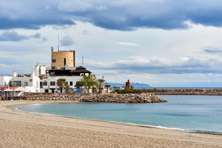 locality: Aguadulce beach. Aguadulce is a spanish locality of Roquetas de Mar, province of Almeria. Spain Stock Photo