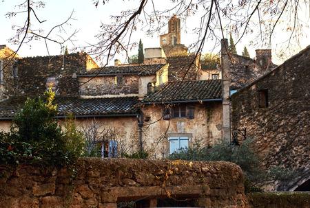 lourmarin: Charming ancient street of Lourmarin town. Provence-Alpes-Cote dAzur. France