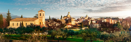 lourmarin: Panorama of Lourmarin. Listed as the most beautiful villages of France. Provence-Alpes-Cote dAzur. Editorial