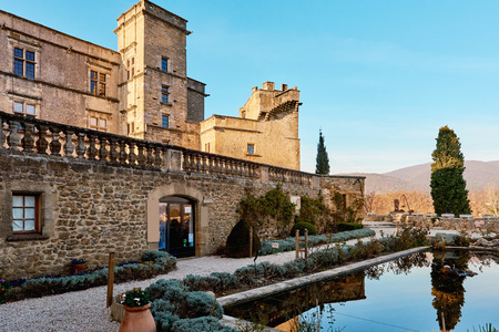 lourmarin: Medieval Castle of Lourmarin. First Renaissance castle built in Provence. Provence-Alpes-Cote dAzur. France