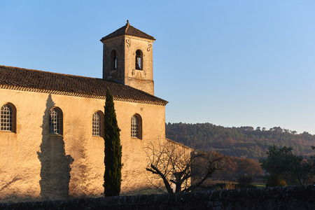 lourmarin: Protestant temple of Lourmarin. Was built outside the village in 1816. Provence-Alpes-Cote dAzur. France