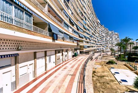 southern: High-rise buildings of San Juan de Alicante. Costa Blanca. Spain Stock Photo