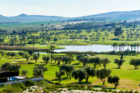 Typical golf club in Spain