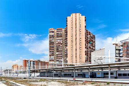Alicante, Spain - March 31, 2017: Alicante railway station. The main national railroad company in Spain is RENFE. Costa Blanca. Spain Editorial