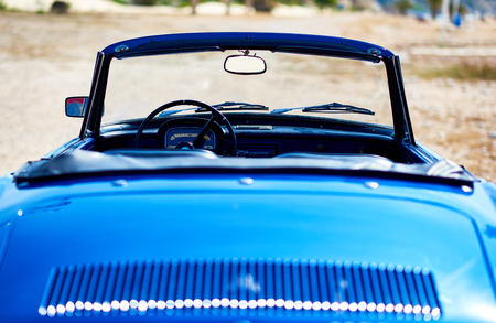 Villajoyosa, Spain - May 28, 2017: Renault Caravelle or Renault Floride car back view. It is a sports car which was produced by the French manufacturer Renault between 1958 and 1968
