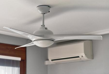 天井ファン、エアコン
