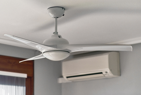 Ceiling fan and air conditioning