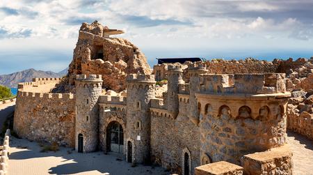 Bateria Castillitos, fortyfikacje Kartaginy, w prowincji Murcja. Hiszpania