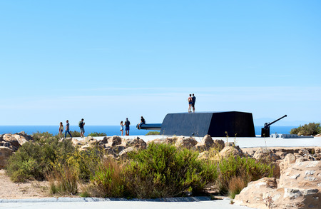 Tourists at the Castillitos Battery