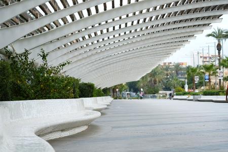 Promenade of Torrevieja. Torrevieja is a Mediterranean city, popular travel destination for tourists. Costa Blanca. Spain