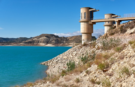 La Pedrera Reservoir in Orihuela. It was finished in 1983 and supplies water for agricultural and municipal use. Spain