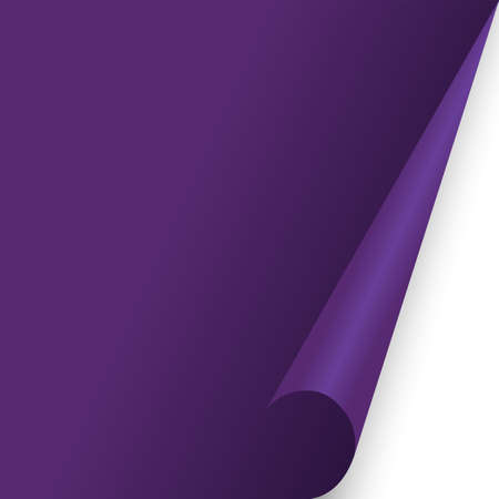 paper document page fold Purple fo background