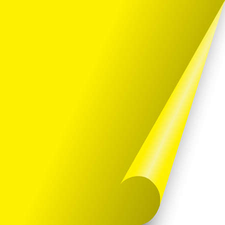 paper document page fold yellow fo background