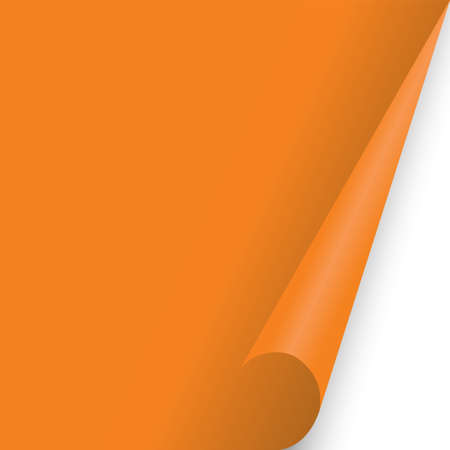 paper document page fold Orange fo background