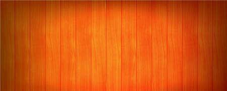 Orange wood planks background, vector illustration 10