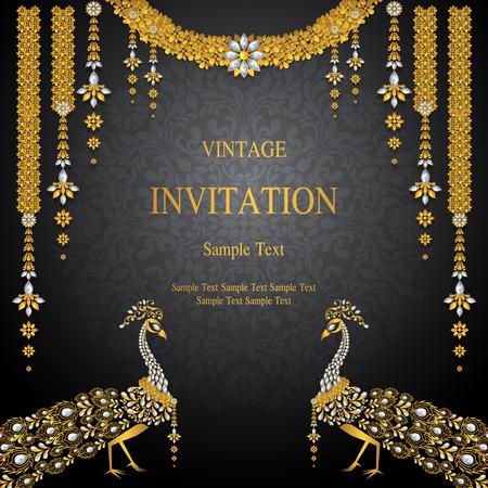 結婚式の招待カードのテンプレートです。 写真素材 - 89137061