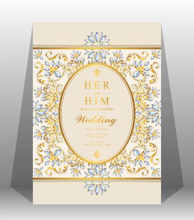 Hochzeitseinladungskartenschablone. Standard-Bild - 89137064