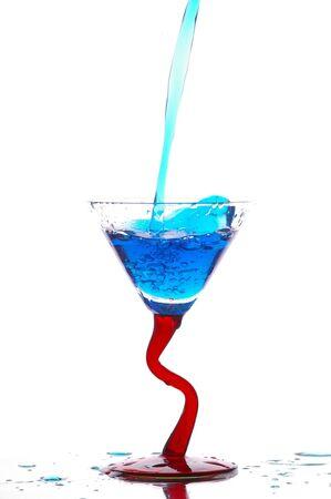 glasswear: Glass filling with liquid Stock Photo