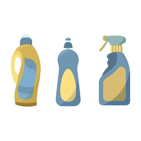 Vector icon. Flat style. Isolated vector illustration on a white background. Means for washing, cleaning and washing. Ilustración de vector