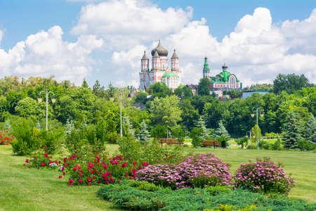 panteleimon: Female St  Panteleimon Monastery in the park Feofania  Kiev, Ukraine Stock Photo