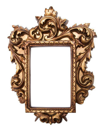 rich golden baroque frame isolated on white stock photo picture and