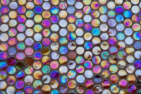 round brilliant: Antecedentes de ronda brillante mosaico iridiscente