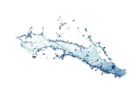 isolated of water splashing on white background. Banco de Imagens