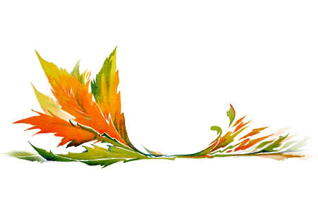 Leaf design by watercolor