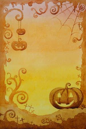 viewfinderchallenge1: Halloween background design by watercolor