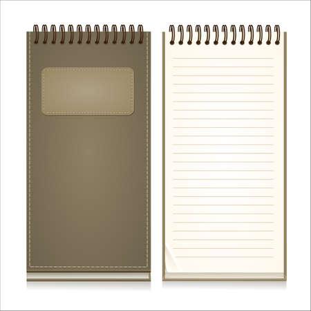 紙のノートブック四角形  イラスト・ベクター素材
