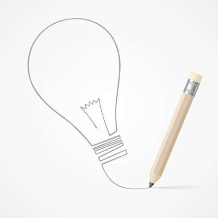 Pencil drawing Idea Vector
