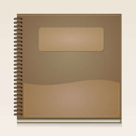 notebook cover: Paper Notebook front cover Brown color