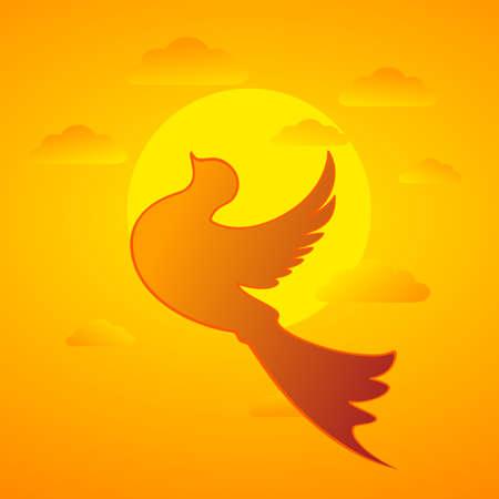 Bird and Sunset, EPS10