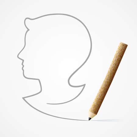 writing pad: Pencil drawing Child