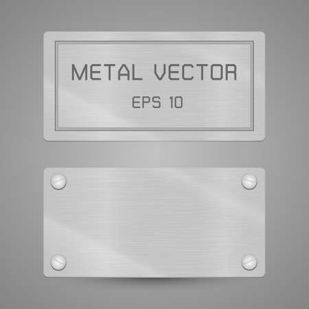 金属のラベルにはこの図には透明性が含まれています。  イラスト・ベクター素材