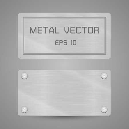 Metalen label, Deze illustratie transparantie bevat