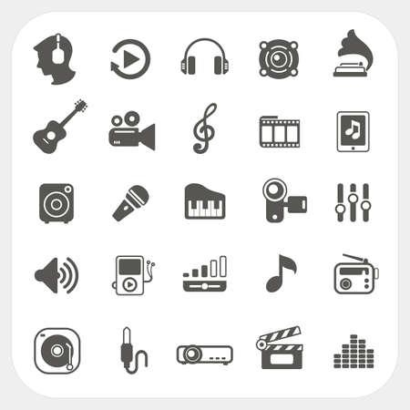 pictogrammes musique: Les ic�nes de musique mis en Illustration