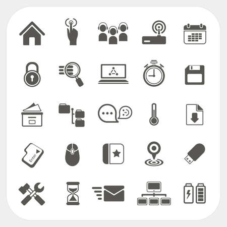 Web icons set Stock Vector - 21921379