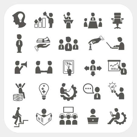 Management und Business-Icons Standard-Bild - 21921380