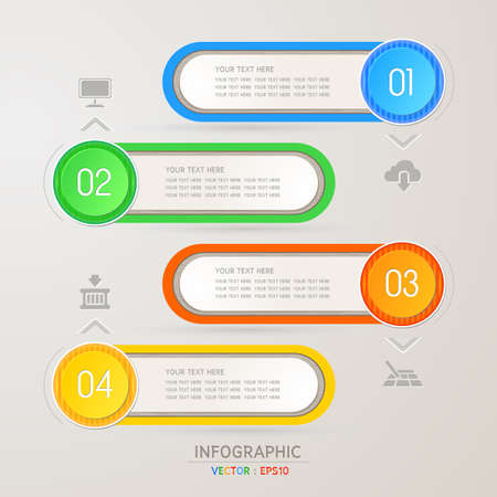 Design template for infographic  banners or website