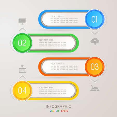 Dise�o de la plantilla para infograf�as  banners o sitio web