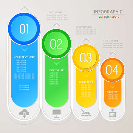 Design template for infographic  banners or website Vector