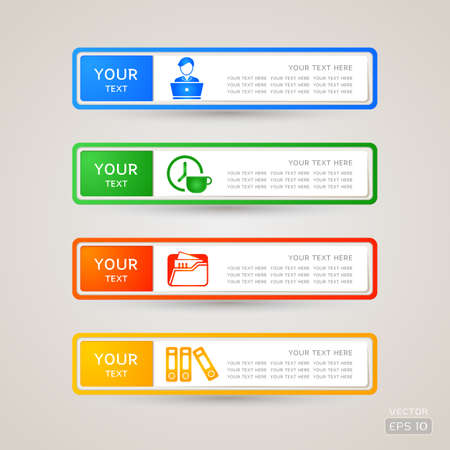 Sticker Label business and finance set Stock Vector - 21963164