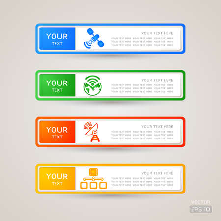 Sticker Label communication set Stock Vector - 21963270