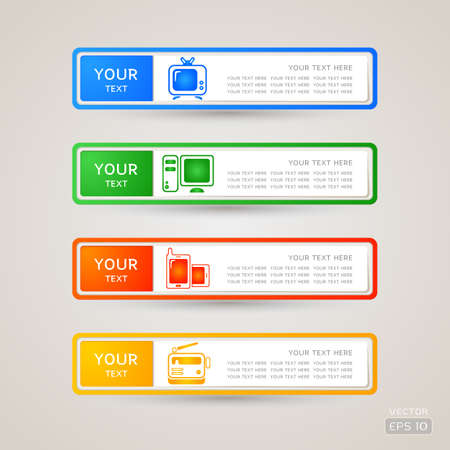Sticker Label communication set Stock Vector - 21963271