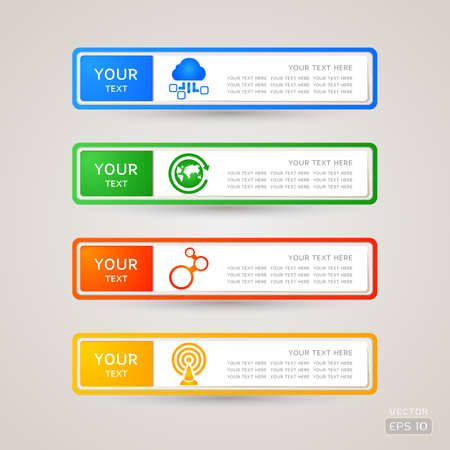 Sticker Label communication set Stock Vector - 21963351