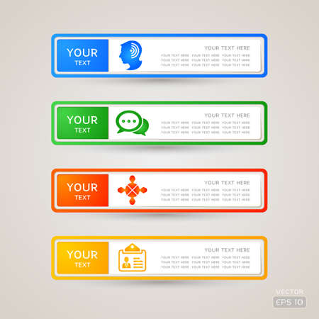 Sticker Label communication set Stock Vector - 21845437