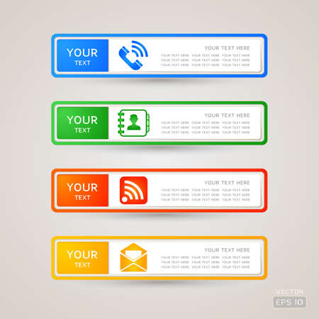 Sticker Label communication set Stock Vector - 21963353