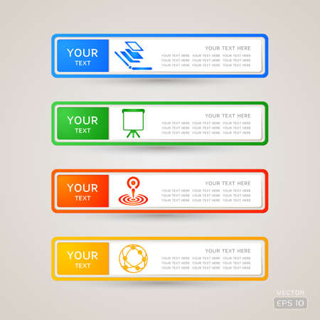 Sticker Label communication set Stock Vector - 21963352